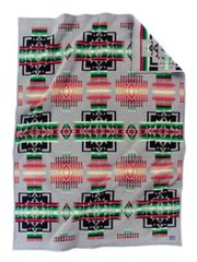 Pendleton Chief Joseph Muchacho Crib Blanket, Charcoal
