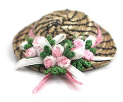 Sweetgrass Hat Brooch, Pink