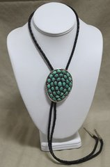 Silver Bolo with Several Turquoise Stones