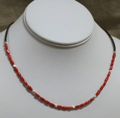 Heishi Coral Necklace