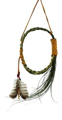 Hanging Sweetgrass Braid W/ Feather