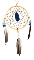"5"" Dreamcatcher with Agate Stone, Blue"