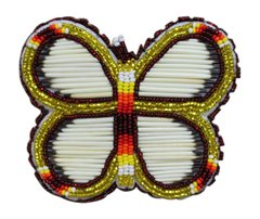 Bead & Quill Butterfly Barrette Yellow
