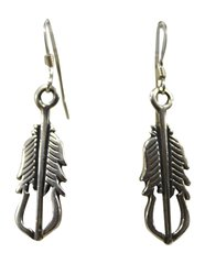 Feather Dangle Hook Earring