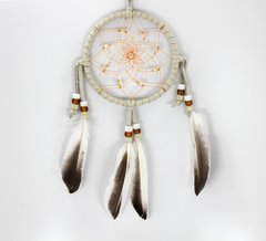 "4"" Dreamcatcher w/ Stones & Beads, yellow"