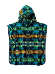 Pendleton Eagle Rock Jacquard Hooded Towel, Turquoise
