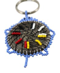 Sweetgrass Turtle Key Chain, Periwinkle