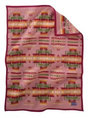 Pendleton Chief Joseph Muchacho Crib Blanket, Rose