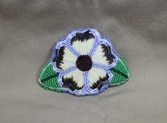 Quill & Bead Flower Barrette Light Blue