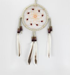 "4"" Dreamcatcher w/ Stones & Beads, brown"