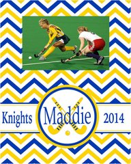 field hockey chevron frame