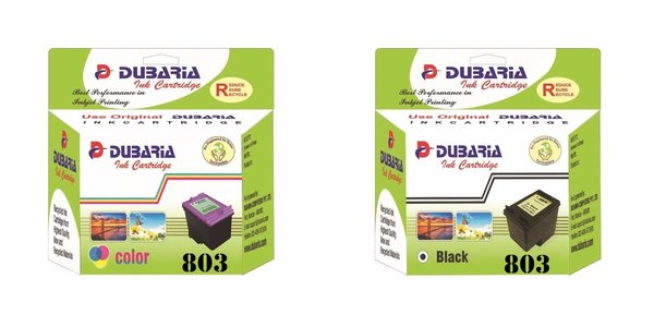 Dubaria 803 Black & Color Ink Cartridge Combo For HP DeskJet 1112, 1111, 2131, 2132 Printer