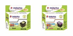 Dubaria 810 XL Black and 811 XL Tricolor Combo Multicolor Ink for Canon 810 XL & 811 XL