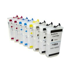 Dubaria Empty Refillable Cartridge For HP HP Z 2100 Printers Compatible With HP 70 All 8 Colors