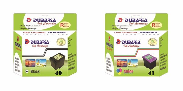 Dubaria PG 40 Black & CL 41 Color Ink Cartridge Combo For Canon PG 40 & CL 41 Ink Cartridge