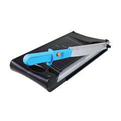 Dubaria 2 in 1 Plastic Grip Guillotine Trimmer Hand Held Paper Cutter
