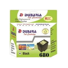 Dubaria 680 Black Ink Cartridge For HP 680 Black Ink Cartridge