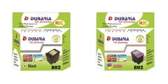Dubaria 802 Ink Cartridge Combo Pack Compatible for Use In DeskJet 1000, 1010, 1011, 1050, 1510, 1511, 2000, 2050, 3050, J210, J310, J610