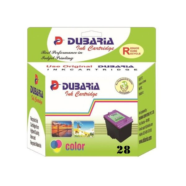 Dubaria 28 Tricolour Ink Cartridge For 28 HP Tricolour Ink Cartridge