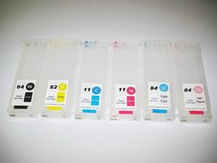 Dubaria Empty Refillable Cartridge For HP DJ 111 Printers Compatible With HP 82BK / 11 (Cyan, Yellow & Magenta)