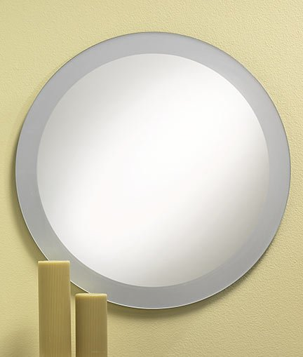 Frosted Edge Round Frameless Mirror 26 X 26 The Home