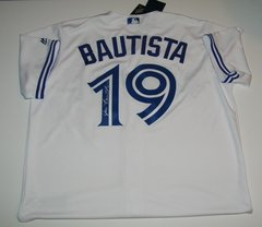 Jose Bautista Signed Autographed Auto Toronto Blue Jays Baseball Jersey - 100% Proceeds to Charity