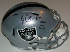 Amari Cooper Signed Autographed Auto Oakland Raiders Full Size Speed Helmet w/Silver and Black - Proof