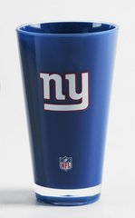 New York Giants Round Tumbler Cup 20oz Insulated/Shatterproof NFL