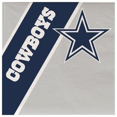Dallas Cowboys Disposable Paper Napkins 20 Count Partyware