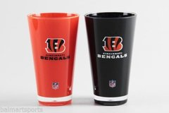 "Cincinnati Bengals Acrylic Tumbler Cup 2 Pack 20oz. Round ""On Field Colors"" Insulated/Shatterproof NFL Licensed FREE SHIPPING"