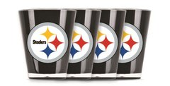 Pittsburgh Steelers Shot Glasses 4 Pack Shatterproof NFL