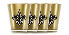 New Orleans Saints Shot Glasses 4 Pack Shatterproof NFL
