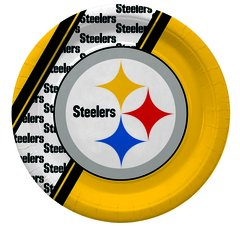 "Pittsburgh Steelers 10"" Disposable Paper Plates 20 Count Partyware"