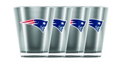 New England Patriots Shot Glasses 4 Pack Shatterproof NFL