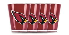 Arizona Cardinals Shot Glasses 4 Pack Shatterproof NFL