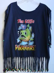 H2BN Yamassee Fringe  The Little PIRANHAS! Beaded T-Shirt