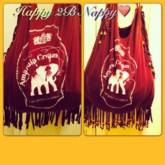H2BN Beaded The Spirit of Africa Fringe Bag or T-shirt