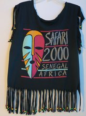 H2BN Yamassee Fringe Beaded Safari 2000 Senegal Africa T-Shirt