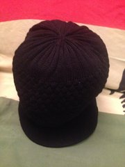 H2BN Black Knitted Crown or Hat For Locs Now On Sale