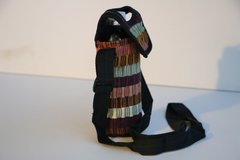 H2BN Yamassee Water Bottle Carrier Brown Multicolor Adjustable Strap