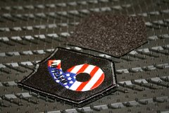 U.S. Patriotic Flag Hook and Loop Patch (backing included)