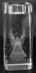 AIE LASER CUT CRYSTAL CANDLE HOLDER ANGEL