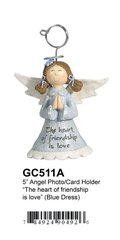 "GC511A 5"" ANGEL PHOTO/CARD HOLDER"