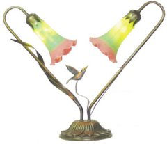 "15""H Double Hummingbird Lamp"