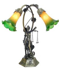 "17.5"" Lady of Justice Lamp"