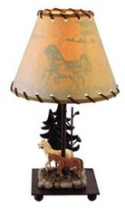 "15"" Wilderness Lamp-Horses"