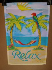 AIE RELAX AT THE BEACH GARDEN FLAG