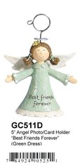 "GC511D 5"" ANGEL PHOTO/CARD HOLDER"