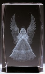 AIE LASER CUT CRYSTAL ANGEL