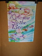 AIE WELCOME TO THE BEACH GARDEN FLAG